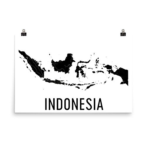 Indonesië Kaart, Kaart van Indonesië, Indonesië Kunst, Indonesië Decor, Indonesische Kunst, Indonesië Print, Indonesië Poster