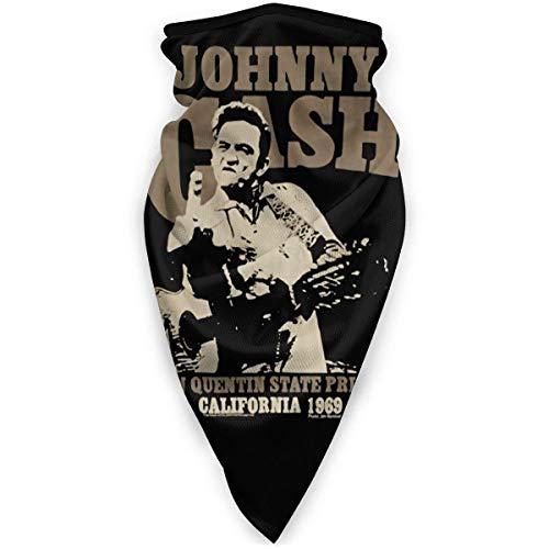 qulia Johnny Cash Winddichtes Sportgesicht Bandana Balaclava Mundschutz Schal für Outdoor-Sportarten