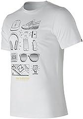 New Balance Camiseta de Hombre MC Layout Blanco