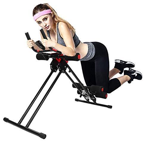 APcjerp AB Glider Trainer, Schiene Cruncher Bauch Roller mit Display, Turnhalle Heim ABS, Fitness-Bike, AB Trainer, Ideal Aerobic Trainer