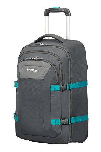 """American Tourister Road Quest - Wheeled Laptop Backpack 15.6"""" Mochila tipo casual, 53 cm, 35 liters, Gris (Grey/turquoise)"""
