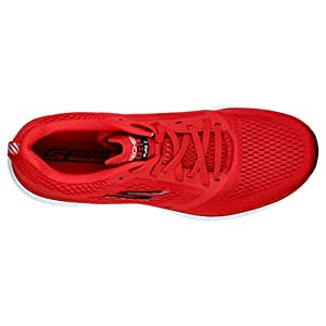 Skechers mens Go Run Pure 2 - Performance Running & Walking Shoe Sneaker,Red/Black,12.5 M US