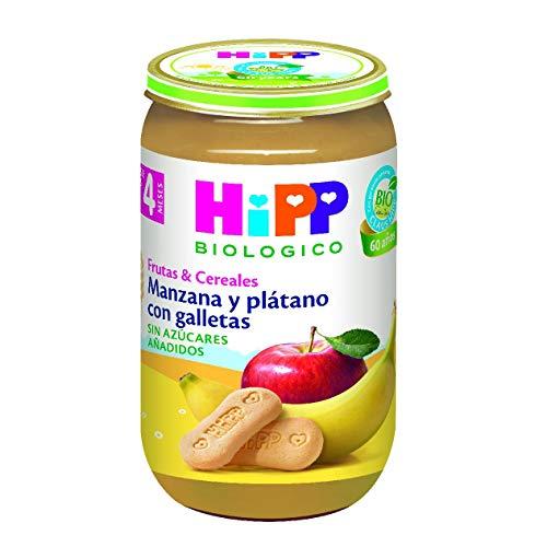 Tarrito Manzana y Plátano con Galletas HiPP Biológico 250 gr