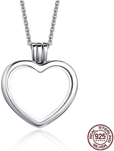 Stijlvolle Eenvoud Nieuwe Sterling Zilver Joker Sweater Ketting Ronde Hanger Glas Persoonlijkheid Verse Hartvormige Zilveren Sieraden, Circulair, MN Heart-shaped