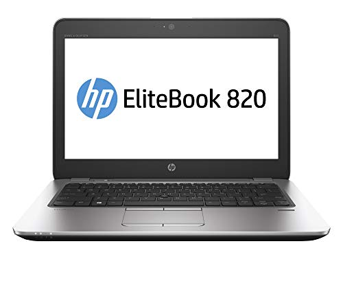 HP EliteBook 820 G3 (12,5 Pulgadas) Notebook PC Core i5 (6200U) 2,3 GHz 8 GB 256 GB SSD WLAN BT Webcam Windows 10 Pro 64 bits (HD Graphics 520) (reacondicionado)