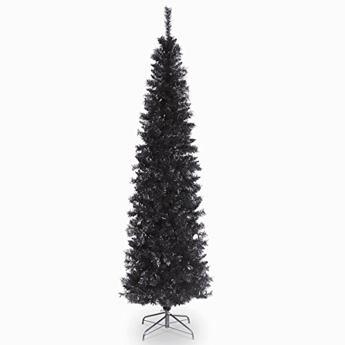 National Tree 6 Foot Black Tinsel Tree with Metal Stand (TT33-704-60)