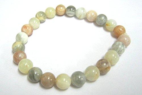 Beautiful potente piedra lunar redondo pulsera de perlas de Gemstone Fashion Wiccan joyas cristal curación regalo bienestar Meditación energía positiva éxito prosperidad amor