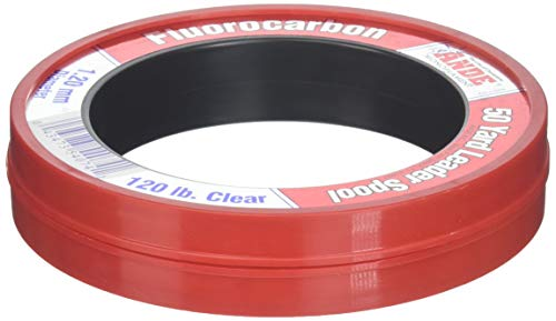 Ande FCW50-120 Fluorocarbon Vorfachmaterial, 45,7 m Spule, 120 Pfund Test, klares Finish