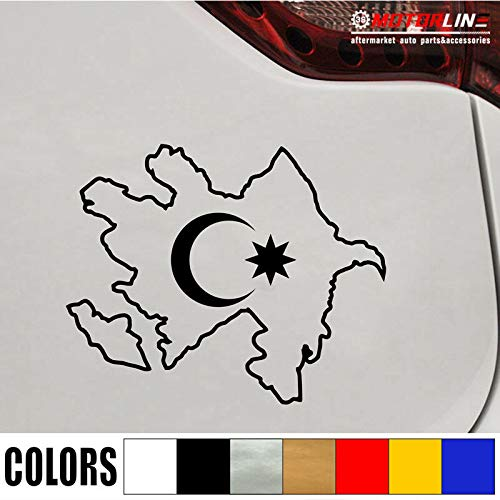 SUPERSTICKI Turkije vlag land omtrek halve maan sticker autosticker, wandtattoo professionele kwaliteit voor lak, ruit, enz. wasstraatbestendig