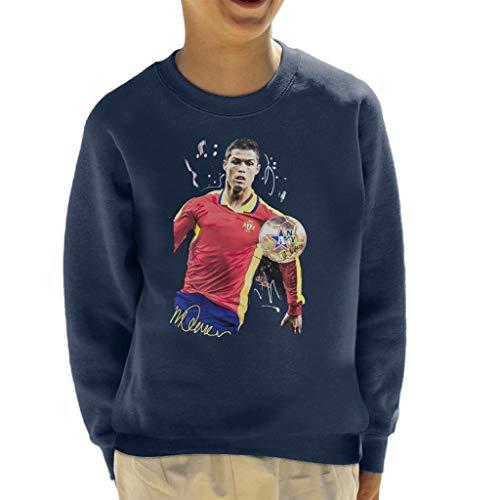 VINTRO La Camiseta del Delantero portugués Cristiano Ronaldo Kid Original Portrait por Sidney Maurer
