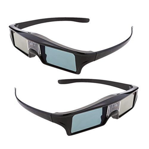Almencla 2X Gafas DLP Link con Obturador Activo Recargable 3D para Benq, Optoma, Acer