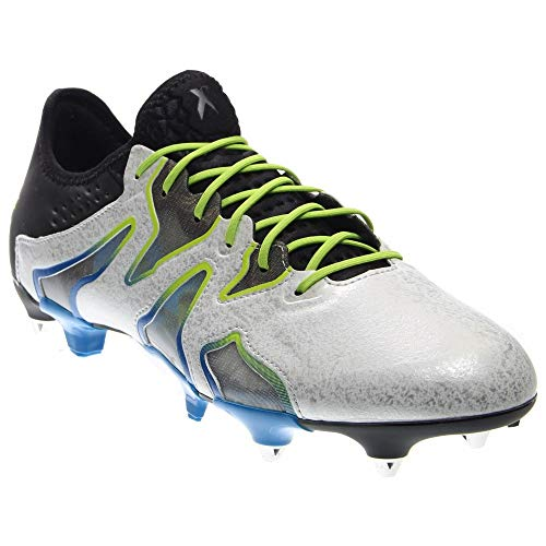 adidas Mens X 15+ SL Soft Ground Soccer Casual Cleats, White, 6.5