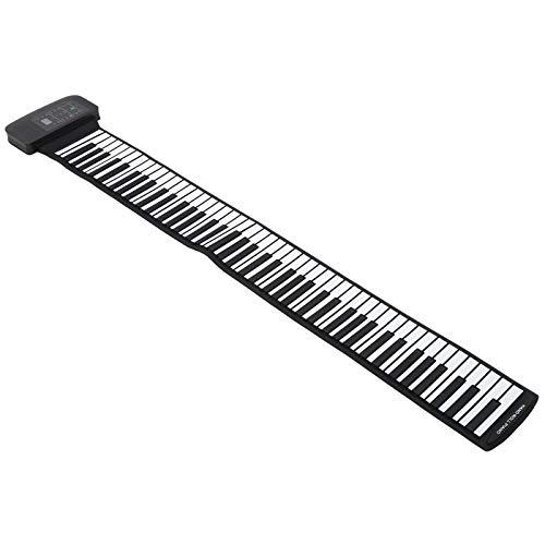 Piano enrollable, silicona, flexible, plegable, 88 teclas,...