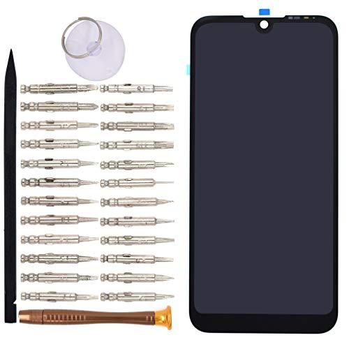 VEKIR Schwarz AMN-LX9 LCD Touch Digitizer-Bildschirm mit Klebstoff Ersatz für Huawei Y5 2019 AMN-LX1 AMN-LX2 AMN-LX3