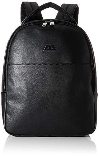 Armani Exchange Herren Backpack with Handle Rucksäcke, Schwarz (Nero-Black), 42x12x30 cm (B x H x T)