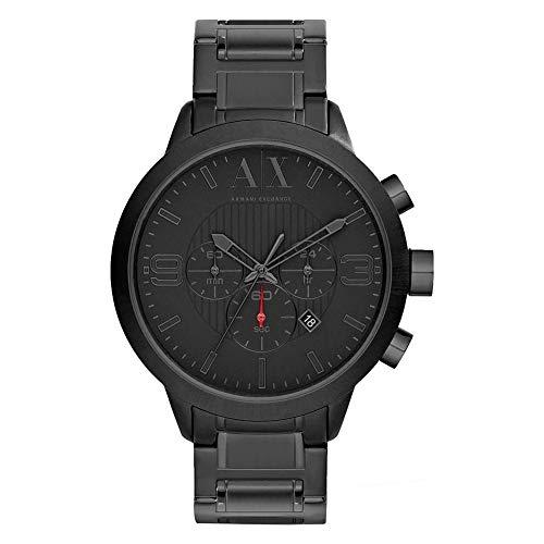 Armani Exchange Urban Chronograph Quadrante nero Orologio da uomo nero con placcatura ionica AX1277