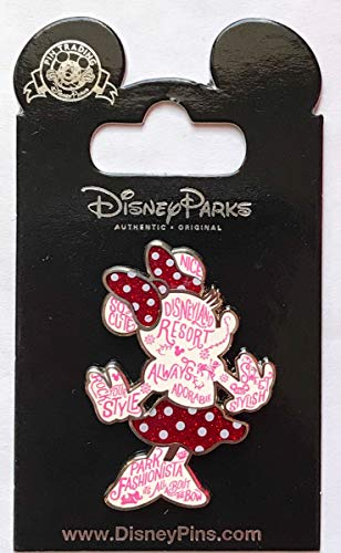 Disney Pin 126785 WDW - Rock the Dots - Word Filled - Minnie Mouse Pin