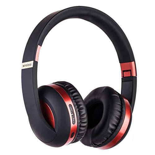 Wsaman Auriculares Inalámbricos Bluetooth,Auriculares para Trabajo y Deportes Viaje, con Mic Reducción de Ruido para Deportes, Oficina en Casa, Trabajo,Rojo