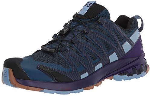 Salomon XA Pro 3D v8 GTX W, Zapatillas de Trail Running para Mujer, Azul (Poseidon/Violet Indigo/Forever Blue), 36 2/3 EU