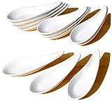 lot de 12 cuillères à apéritif chinoises contemporaines - couleur : blanc