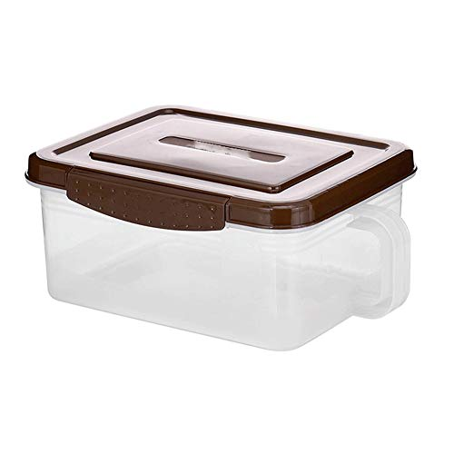 Kcakek Keukenla Koelkast Storage Box Fresh Food Storage Box Gekoelde Invriezen Box Kitchen Storage Boxes Eten Storage Container met deksels Flour Storage Containers (Color : Brown)
