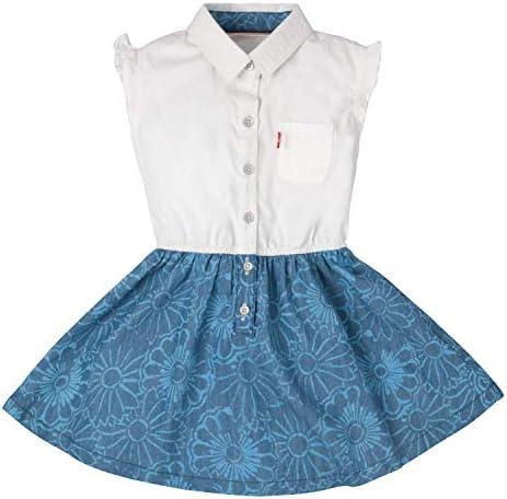 Levi s Big Girls Beach Picnic Short Sleeve Dress Blue Vibes Medium product image