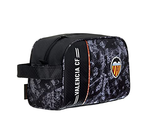 Neceser Valencia CF – 1 Bolsillo Cremallera Simple Asa para Transporte – Medidas 25x15,5x11 cm Color Negro