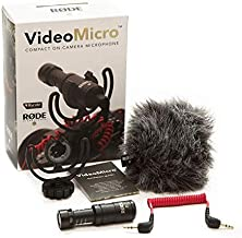 Rode Compact On-Camera Microphone with Rycote Lyre Shock Mount, Black (Videomicro) + 1 Year Extended Warranty
