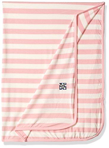 KicKee Pants Print Swaddling Blanket Lotus Stripe  One Size
