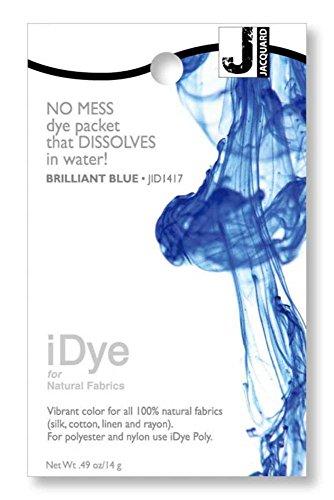 Jacquard Products 100% Natural, Brilliant Blue iDye Fabric Dye, 5 Oz