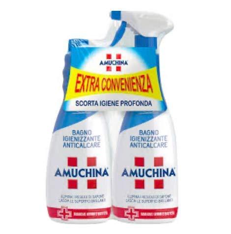 Amuchina sgrassatore igienizzante 2 pezzi da 750 ml spray più ricarica