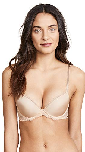 Calvin Klein Women's Seductive Comfort with Lace Lift Demi Bra, Bare, 30DD