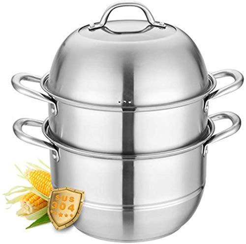 XY-M Emblor para cocinar la Olla para la Olla Sartén Pan Pan Pan de la Comida Vegetales 304 Acero Inoxidable Hogar 3 Capas engrosadas Multiuso Pot Estufa Estufa Universal 32 cm