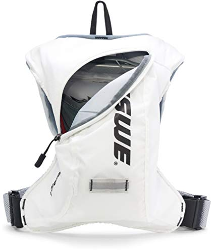 USWE Nordic 4L, Winter Hydration Pack - with 2.0L/ 70 oz Hydration Bladder, White. Freeze Protection with Thermo Cell Technology. Bounce Free with Adjustable NDM 4-Point Race Harness