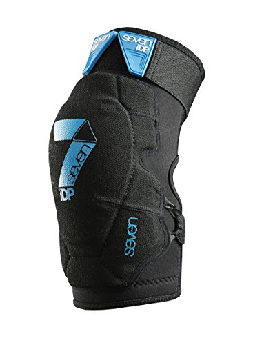 7 Protection Flex-17 Rodilleras Ciclismo Enduro MTB, Unisex Adulto, Negro, Talla-M