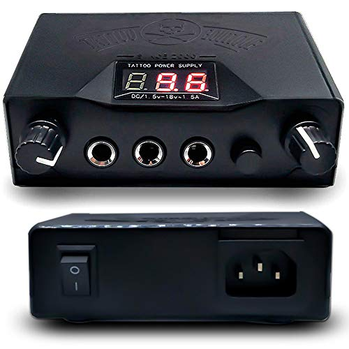Romlon Tattoo Power Supply - Professional LCD Dual Tattoo Power Supply...