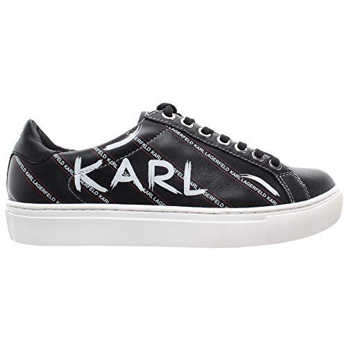 Karl Lagerfeld Damen Schuhe Sneakers Kupsole Leder Schwarz Neu