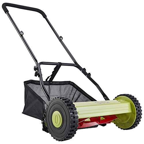 Garden Gear Manual Lawnmower Hand Push Mower Grass Cutter with Rear Roller, 40cm Cutting Width with 30L Collection Bag for Waste