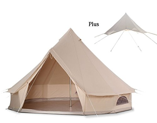 DANCHEL Stand Bell Tent with Wind Water Protection Flying, Size 16.7ft