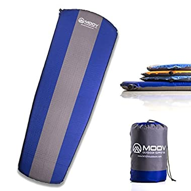 5CM THICK Sleeping Pad | Lightweight Self-inflating mattress with EZ-Pack Carrying Case for Camping, Hiking & Backpacking | By MOOV Outdoor Supply Co.