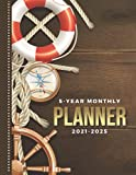 5-Year Monthly Planner 2021-2025: Dated 8.5x11 Calendar Book With Whole Month on Two Pages / Lifesaver Rope Compass Wheel - Nautical Art / Organizer ... - Charts / 60-Month Life Journal Diary Gift