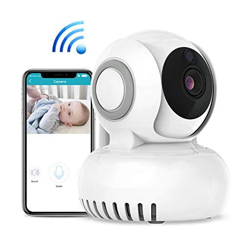 Baby Monitor 720P HD Telecamera di Sorveglianza Wireless Camera, Audio Bidirezionale, Notturna a Infrarossi, Videocamera, Compatibile con iOS Android e PC