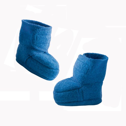 Disana 34402XX - Walk-Babyschuhe Wolle blau, Size / Größe: 4 - 8