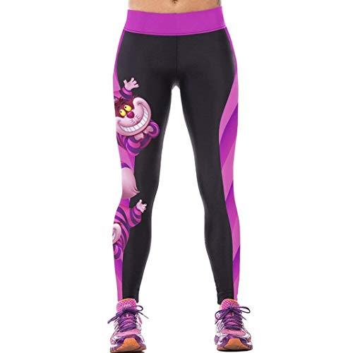 Lannister Fashion Gimnasio De Las Mujeres Leggings Deportes Estampado Moda De Cómic Dibujos Animados Pantalones Elásticos Pantalones Ajustados Faldas para Correr Al Aire Libre Jeggings EU 32 38
