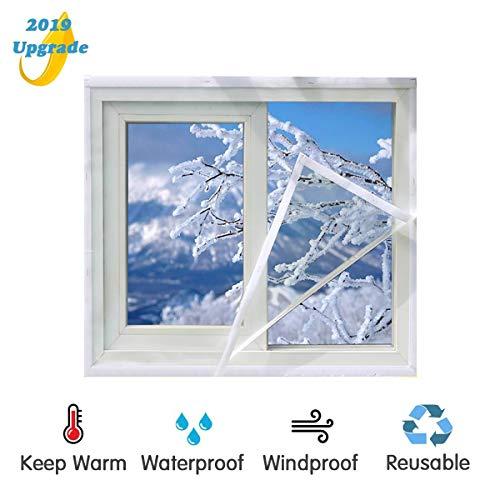 ASTARC Kunststoff Fenster Isolierfolie,Selbstklebende Wärmedämmung Wärmeschutzfolie,Kälteschutz Winddicht Thermo Cover,Transparente Isolierfolie zur Wärmedämmung an Fenstern (1.5m*1.5m)