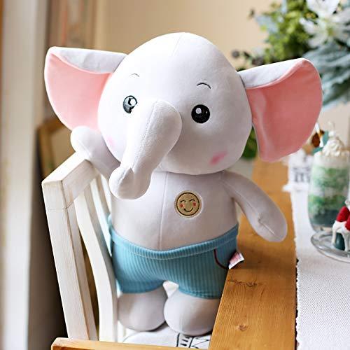 LYXBWT Lindo Elefante muñeca hipopótamo de Peluche de Juguete Almohada Grande para Dormir muñeca súper Linda Regalo de cumpleaños 40 cm Elefante Gris