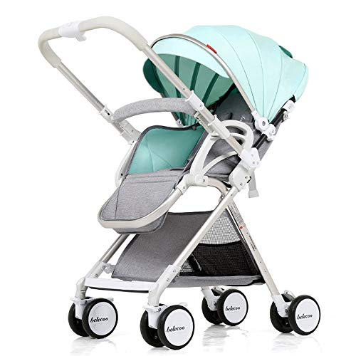 Buy Discount Qivor Baby Carriage 0-3 Year Old Baby Stroller Can Sit Reclining Light Folding Hand Pus...