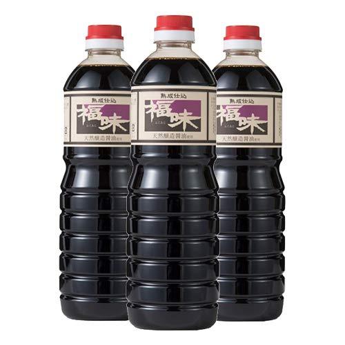 熟成仕込 福味(醤油加工品) 1L×3本セット 九州うまくち醤油風味 天然醸造醤油使用 ユワキヤ醤油