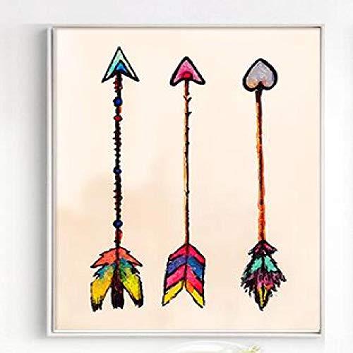 Geiqianjiumai Ethnische Farbe Federn Pfeil Nordic Bild Ölgemälde Moderne Dekoration einfache...
