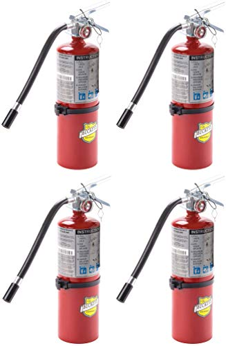 4 PACK of Buckeye 25614 ABC Multipurpose Dry Chemical Hand Held Fire Extinguisher with Aluminum Valve and Vehicle Bracket, 5 lbs Agent Capacity